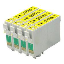 4 Cartucce d'Inchiostro Giallo per Epson Stylus D120 DX7400 SX115 SX610FW
