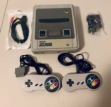 Super Nintendo Game Console + 2 Controllers - Seller Refurbished SNES NES Grey
