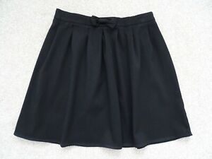 Girl's Black Bow Detail School Skirt from George at Asda Age 10-11 Years