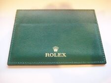 New Genuine Original ROLEX Green Leather Card Document Watch Holder Wallet