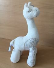 M&S Cream Mix Giraffe Soft Toy with Letters, Hearts, Alphabet Comforter Plush