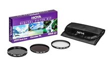 Hoya 62mm Digital Filter Kit: UV(C) + CPL/Circular Polarizer + NDx8/ND8 + Pouch