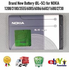 Brand New (BL-5C) Battery for NOKIA 1208 3100 3555 6085 6086 6682 1680