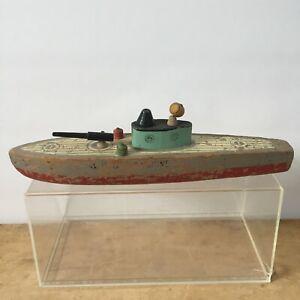 Keystone Mfg Co WWII Wooden S3 US Submarine Toy Ship Boat 1940's War Navy Boston