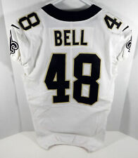 2017 New Orleans Saints Vonn Bell #48 Game Issued White Jersey