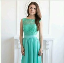 Mint lace bridesmaid dress