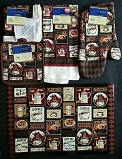 Kitchen Dining Linen Coffee Break Theme Placemats Stove Top Covers, Select: Item