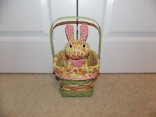 * LONGABERGER * 2011 Green Easter COMBO (Basket, Bunny, Liner, & Protector)