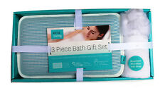 Airia Living Bath Spa Soft Mesh Pillow Hair Wrap Mesh Loofah Scrub Gift Set1