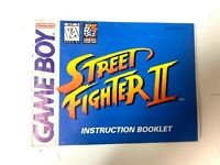 Street Fighter II 2 Original Nintendo GameBoy Manual Instruction Booklet Only