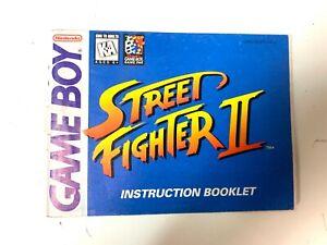 Street Fighter II 2 Original Nintendo GameBoy Manual Instruction Booklet Only
