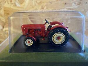 HACHETTE 1958 PORSCHE DIESEL SUPER FARM TRACTOR RED. 1:43 Mint Universal Hobbies