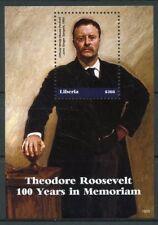Liberia 2018 MNH Theodore Roosevelt Singer Sargent 1v S/S US Presidents Stamps