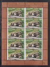 A 31 ) Germany 2017 **/ MNH - Animal Children: Iltis Polecat Sheet 10 MNH Stamps