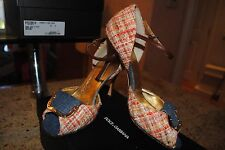 D & G Shoes Womens Pumps Dolce and Gabbana Open Toe Size 36 $595