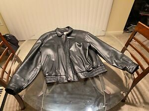 MISTY HARBOR ORIGINAL SIZE LARGE BLACK MEN'S LEATHER JACKET NICE!