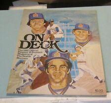 1981 Baltimore Orioles Seattle Mariners Baseball Game Program Jeff Burroughs