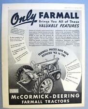 10X14 Original 1939 Farmall 20 Tractor Ad ONLY FARMALL BRINGS YOU ALL FEATURE
