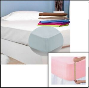 Fitted Flat Sheets Extra Deep Corners Polycotton Standard Quality Sizes Colours