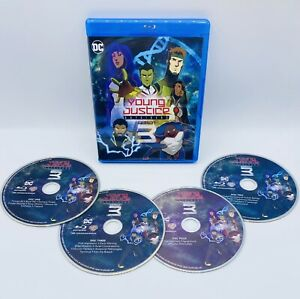 Young Justice Outsiders: Complete Third Season 4 Blu-Ray Discs Season 3