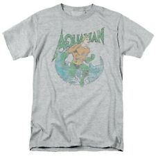 Aquaman Pose Grey Men's T-Shirt Grey