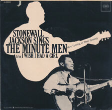 STONEWALL JACKSON Minute Men 45 (Hear it) + Picture Sleeve Near Mint