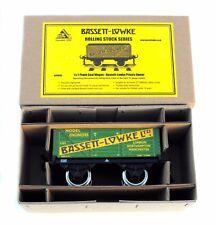 BASSETT-LOWKE BL99036 7-Plank Coal Wagon Private Owner B-L Green Livery- LOT B