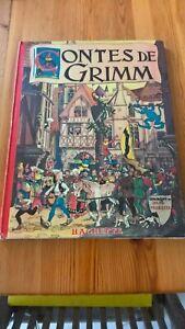CONTES DE GRIMM - EDITIONS HACHETTE 1946 - AVEC JAQUETTE