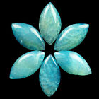 D0006948 Mesmerizing Sky Blue Dragon Veins Agate Olivary CAB CABOCHON 6Pcs