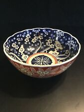 LARGE CHINESE Japanese bowl  old IMARI colored porcelain GOLD Blue Red