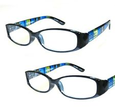 -2-pair-250-foster-grant-blue-rainbow-reading-glasses-w-soft-case-msrp-32