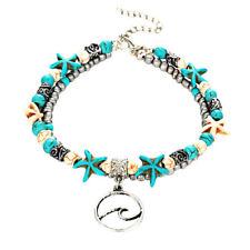 Women Classics BohemiaTurquoise Natural Stone Beach Foot Chain Anklets Bracelets