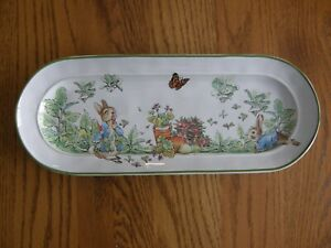 Pottery Barn Beatrix Potter Peter Rabbit Garden Cookie Tray/Platter-Asparagus-Ne