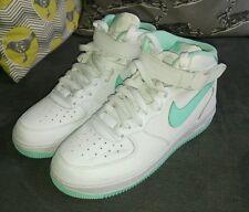 Nike Air Force 1 (AF1) - White & Teal / Mint - Size UK 5.5 / EU 38.5