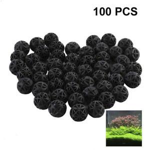 100 Pcs Biological Bio Balls Aquarium Fish Nano Tank Pond Canister Filters Media