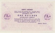 """Niederlande 1 Gulden Schiffsgeld Netherlands East Indies Rotterdam Lloyd """"Will"""