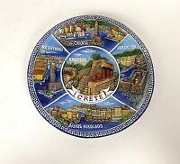 Vintage Greek Island Of Crete Ceramic Plate Hand Painted Tzivelek