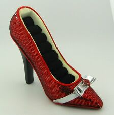NEW Red Sequined Fashion High Heel Shoe Ring Holder Organizer Display Slipper