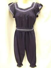 """Vintage 1920s swimsuit Blue and white 34"""" bust 26"""" waist ~ mint condition"""