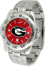 Georgia Bulldogs Men Steel Sport AnoChrome Watch and Dog Tag