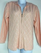 Side Effects Pink Zip Front Sweater Cardigan Size S