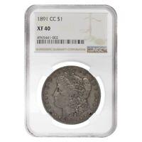 1891-CC Silver Morgan Dollar NGC XF 40