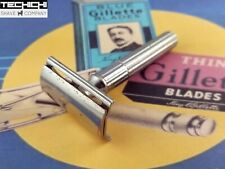 Gillette Fat Handle Tech Vintage Double Edge Safety Razor