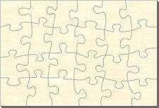 Blanko Holz-Puzzle Rechteck, 24 Teile, 56x38 cm, zum Selbst Bemalen