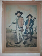Antique Engraving Color Print 'The Blackheath Golfer' L F Abbott Pub. R. Powell