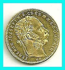 HUNGARY -1884kb - 20 FR / 8 FRT- GOLD  COIN- !!!! .
