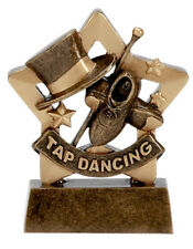 Tap Dancing resina solida MINI STAR TROPHY TIP-TAP 8 cm INCISIONE GRATIS A1124 GMS