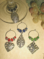 Set of 4 Wine Glass Marker Charms, Great Gift Idea @ Oh Sew Cute Aprons and More