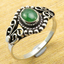 Emerald Silver Plated Metal Jewelry New Well Made Ring Size 9.25 | Simulated
