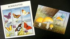 1998 MNH  2 ANGOLA BUTTERFLY STAMP SHEETS BUTTERFLIES INSECT FLOWERS WILDLIFE